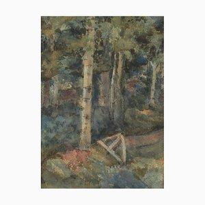 Disegno ad acquerello, At the Broken Cross, 1910, Gustavs ilters