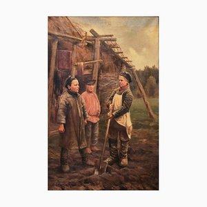 Peasant Children by M. A. Balunin
