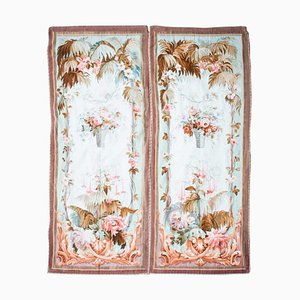Aubusson Style Tapestries, Set of 2