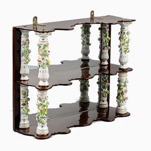 Wooden Shelf with Columns from Meissen