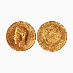 Gold 10 Ruble Coin, 1900