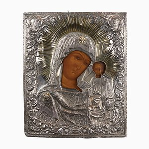 Our Lady of Kazan Icon in Silver