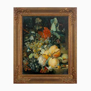 Pintura de frutas al estilo de Jan Van Huysum