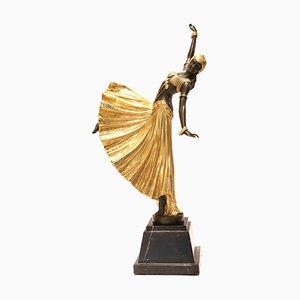 Escultura de bailarina Art Déco