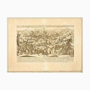 Engraving Siege of Ochakov, 1788