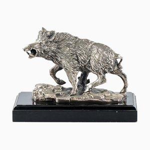 Silver Plated Boar Figure