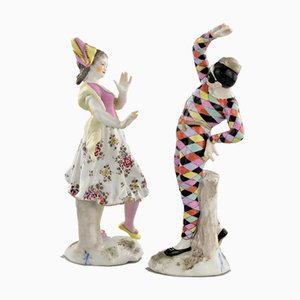 Porcelain Group of Columbine and Harlequin