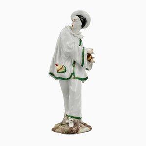 Porzellanfigur von Pierrot