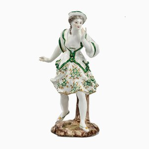 Porcelain Figurine of Lady in Green
