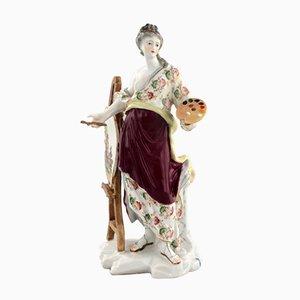 Figura de porcelana de pintor
