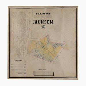 Kaufvertrag, Aquarell, Plan des Landes, 1912