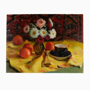 Still Life with Cup and Asters