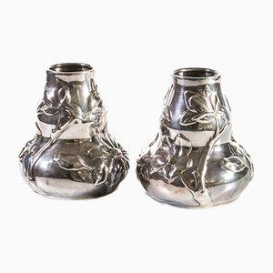 Silberne Vasen von Tiffany, 2er Set