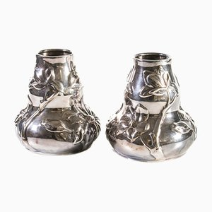 Silver Vases from Tiffany, Set of 2
