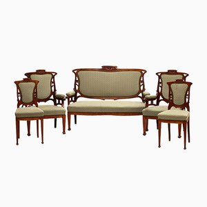 Art Nouveau Furniture, Set of 15