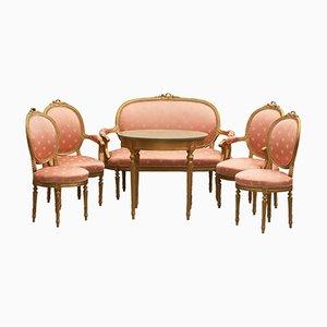 Muebles de caoba. Juego de 8