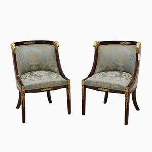 Empire Style Armchairs, Set of 2