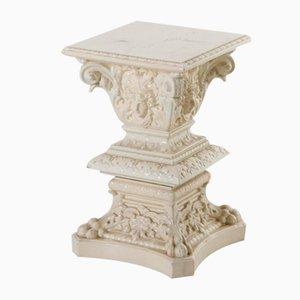 Pedestal de cerámica esmaltada