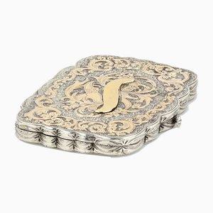 Rectangular Silver Cigarette Case