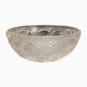 Cuenco de cristal con decoración de golondrinas de Lalique
