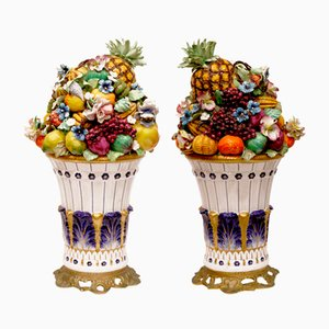 Vases with Fruits, Set of 2