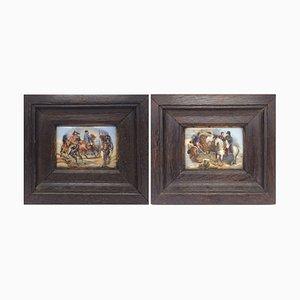 Porcelain Miniatures of Napoleon, Set of 2