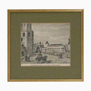Engraving of Moscow Kremlin