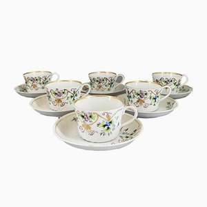 Cups and Saucers from Kuznetsov, Set of 12