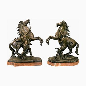 Sculpture of Tamer of Horses, Set of 2