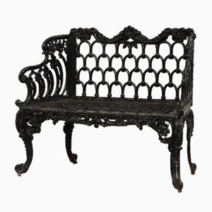 Garden Benches in Cast Iron, Set of 2