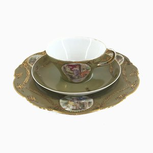 Cup with Saucer and Dessert Plate, Set of 3