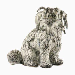Figura de terrier maltés de cerámica