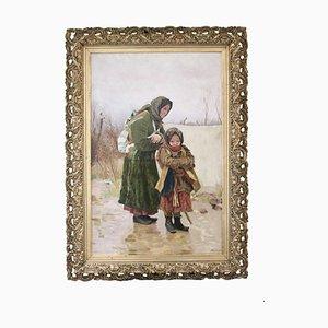 Grandmother With Granddaughter by Tvorozhnikov