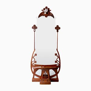 Art Nouveau Mirror with a Console
