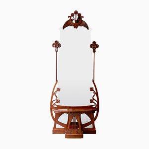 Miroir Art Nouveau avec Console