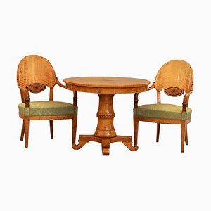 Empire Style Table & Chairs, Russia, 19th Century, Set of 3