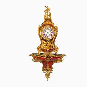 Uhr im Boulle-Stil mit Halterung