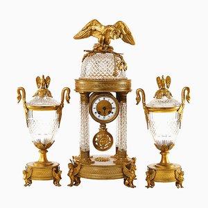 Uhr mit Kaminsims Dekor, 3er Set