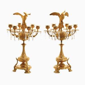 Candelabros de bronce. Juego de 2