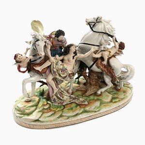 Grupo de porcelana que representa el secuestro de las hijas de Leucipo