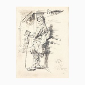 Reisender, Bleistift, 1879