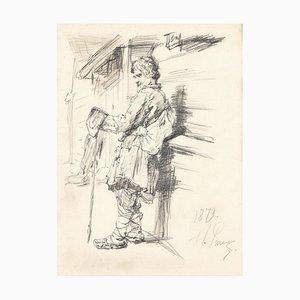 Traveler, Pencil, 1879