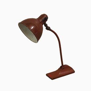 Lámpara de escritorio en borgoña de BAG Turgi, años 30