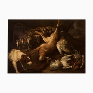 Stillleben mit Hund von J. Fyt, 1651
