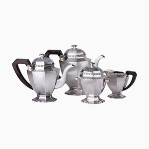 Art Deco Style Silver Coffee Service, Set of 4