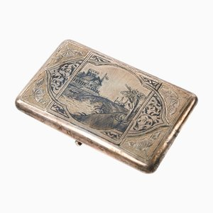 Imperial Russian Silver Cigarette Case