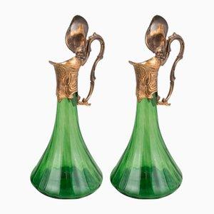 Modern Art Glass Pitchers, Set of 2