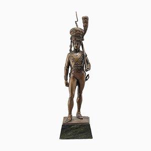 Bronze Figure of Soldier by Fr. Bernauer, Munich