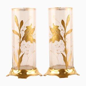Art Nouveau Vases, Set of 2