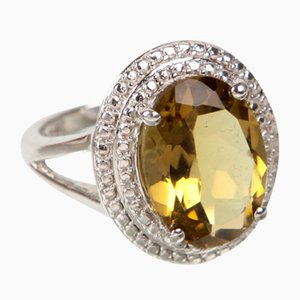 Silber & Citrin Ring